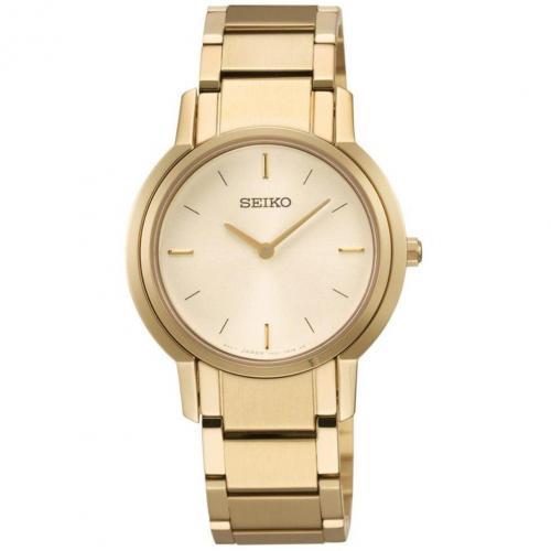 Uhr gold mit Hardlex-Glas von Seiko
