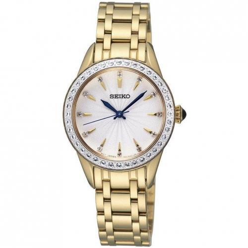 Uhr gold mit japanischem Quarzwerk von Seiko