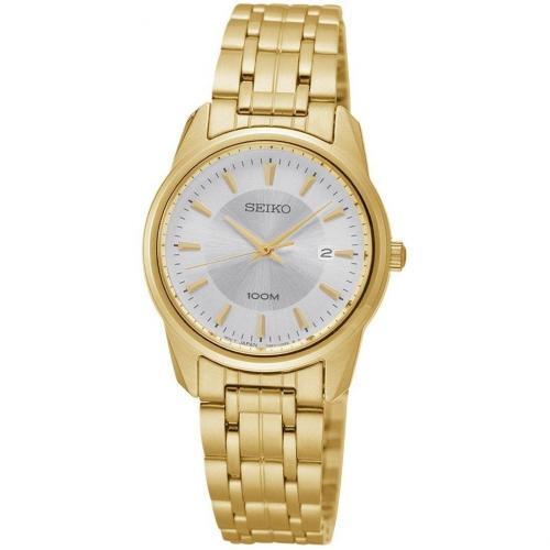 Uhr gold mit Mineralglas von Seiko