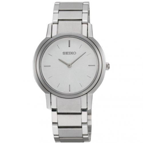 Uhr silber mit Edelstahl-Gehäuse von Seiko