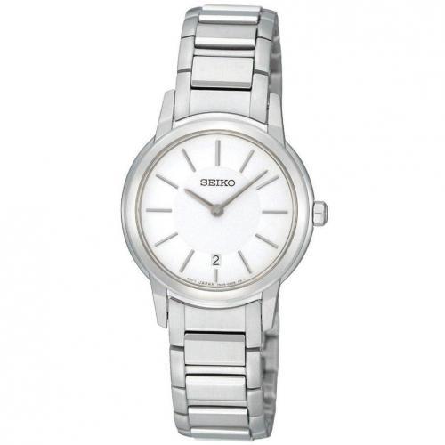 Uhr silberweiß mit synthetischem Saphirglas von Seiko