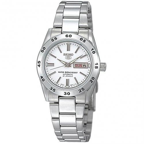 Uhr weiß/silber von Seiko