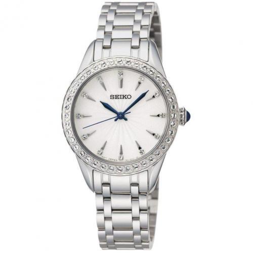 Uhr weiß/ silver von Seiko