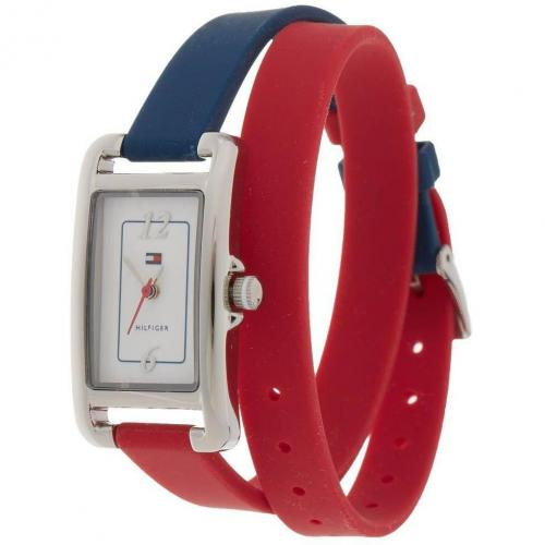 Uhr red/blue/white von Tommy Hilfiger