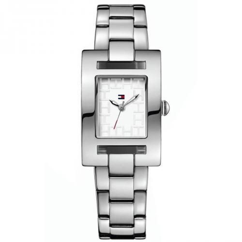 Uhr silber mit Edelstahl-Gehäuse von Tommy Hilfiger