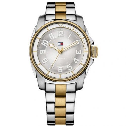 Uhr silber mit Faltschließe von Tommy Hilfiger