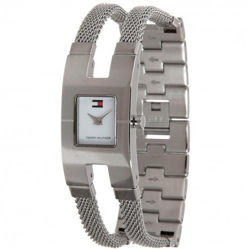 Uhr silber mit kratzunempfindlichem Glas von Tommy Hilfiger