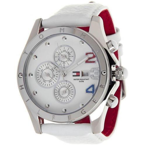 Uhr weiß im maritimen Design von Tommy Hilfiger