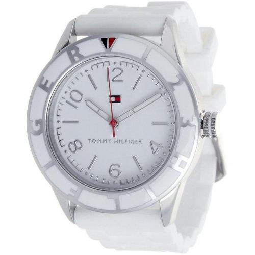 Uhr weiß mit Dornschließe von Tommy Hilfiger