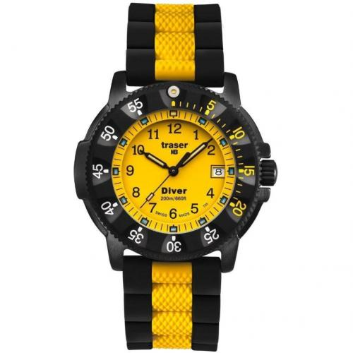 Lady Diver Uhr gelb von Traser H3